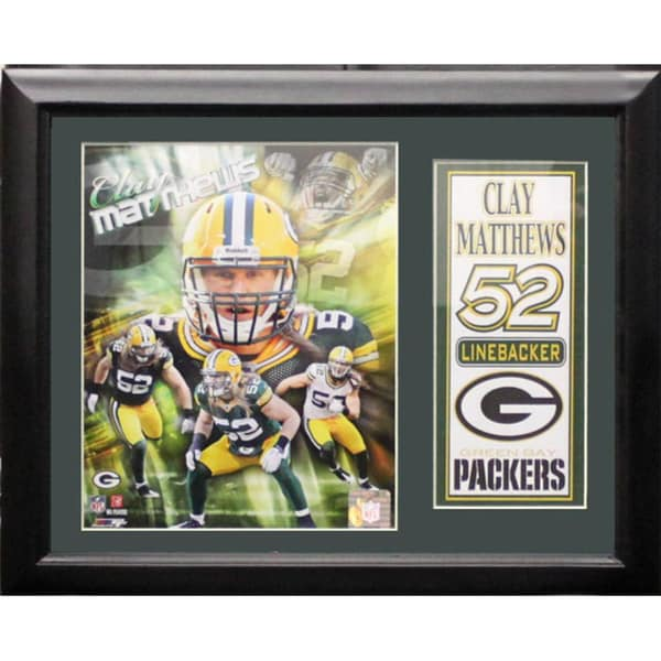 Clay Matthews Deluxe Photo/Stat Frame (11 x 14)