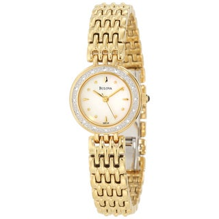 Bulova Women's 98R148 Goldtone Steel Diamond Watch