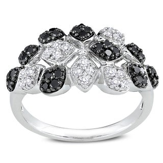 Miadora Signature Collection 14k Gold 1/2ct TDW Black and White Diamond Ring (G-H, I1-I2)