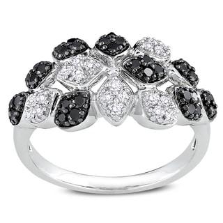 Miadora Signature Collection 14k Gold 1/2ct TDW Black and White Diamond Ring