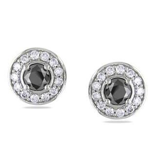Miadora 14k White Gold 1 3/8ct TDW Diamond Earrings