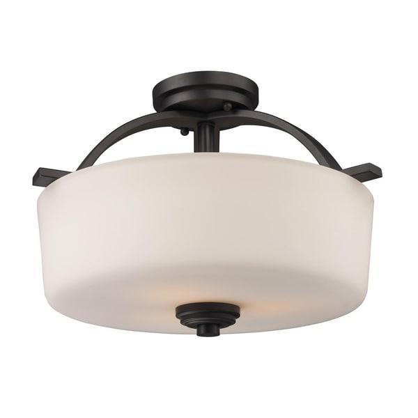 Arlington Semi-Flush Indoor Light Fixture Oil Rubbed Bronze (As Is Item)