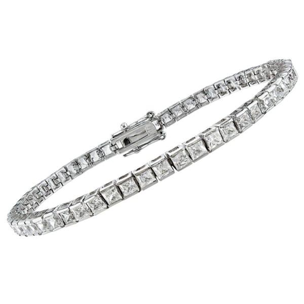 Montebello 14k Gold 5ct TDW Princess-Cut Diamond Bracelet (G-H, SI1-SI2 or VS1-VS2)