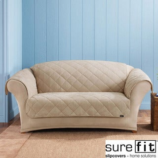 Sure Fit Reversible Taupe Loveseat Cover