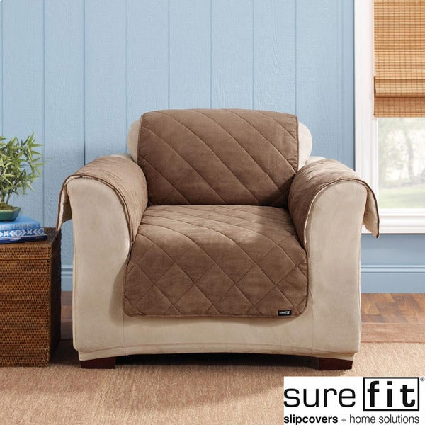 Sure Fit Reversible Cocoa Chair Cover Free Shipping