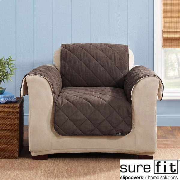 Sure Fit Chocolate Reversible Chair Cover