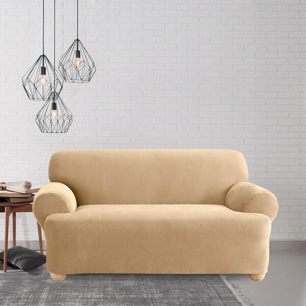 Shop Sure Fit Cream T Cushion Loveseat Slipcover Free