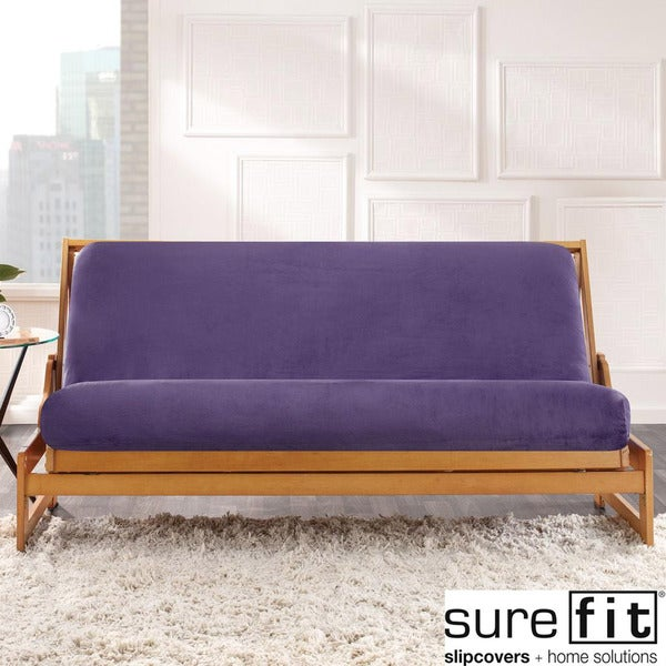 Sure Fit Purple Velvet Futon Cover