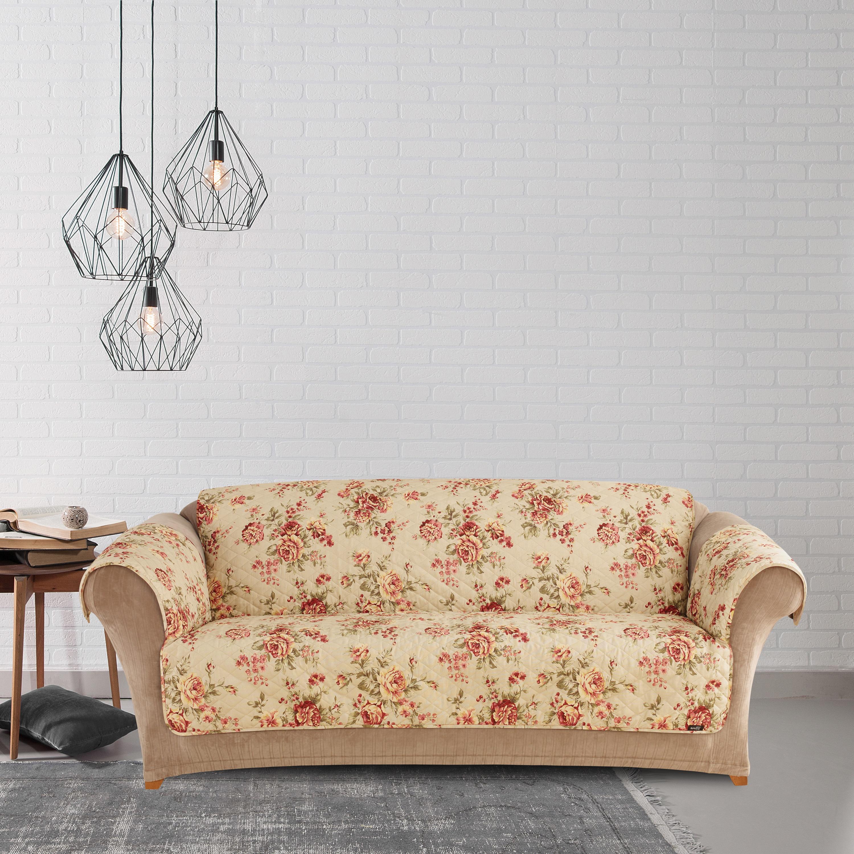 Sure Fit Lexington Floral Sofa Pet Throw with Strap (Lexi...