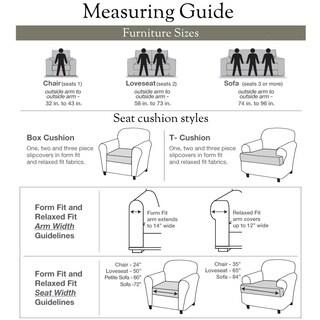 Sure Fit Natural Cord Sofa T-cushion Slipcover