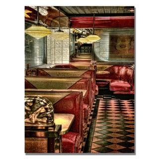 Lois Bryan 'The Diner' Canvas Art