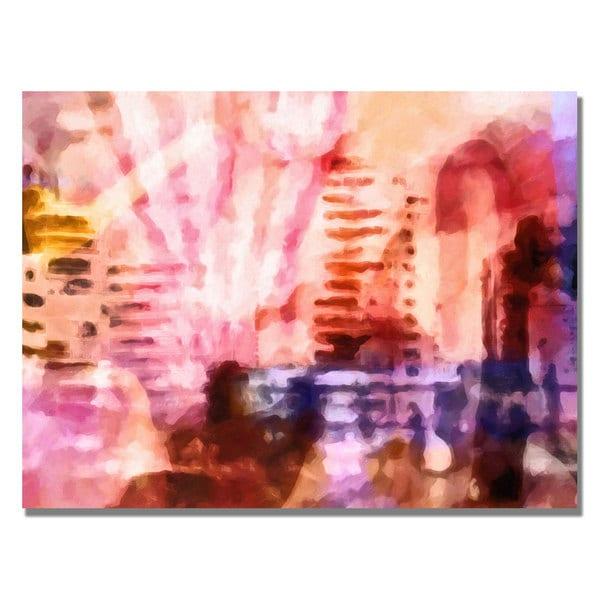 Adam Kadmos 'Pink Urban' Canvas Art