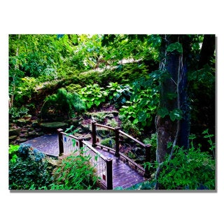 Kathie McCurdy 'Bridge in the Garden of Light' Canvas Art