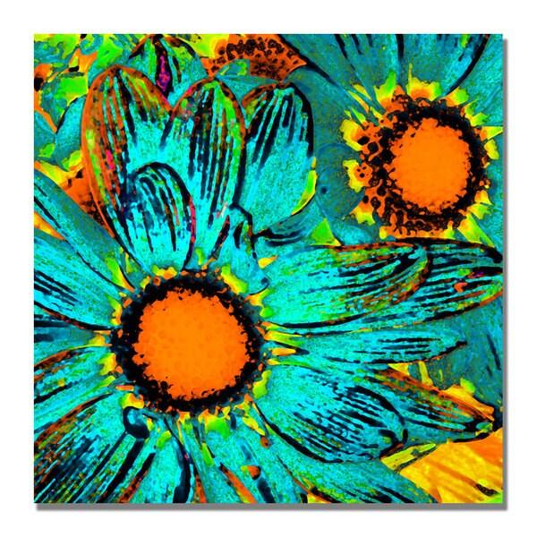 Amy Vangsgard 'Pop Daisies' Canvas Art