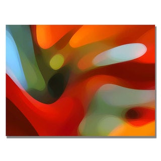 Amy Vangsgard 'Red Tree Light' Canvas Art