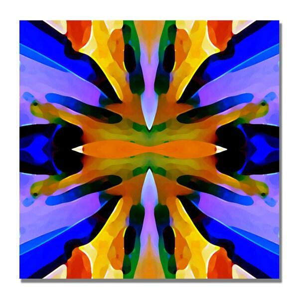 Amy Vangsgard 'Paradise Blue and Yellow' Canvas Art