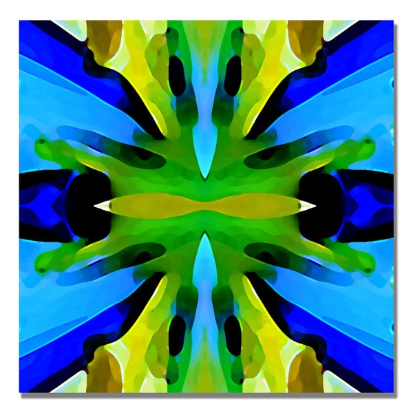 Amy Vangsgard 'Paradise BLue and Green' Canvas Art