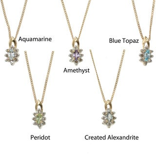 Michael Valitutti 10k Gold Gemstone and Diamond Pendant