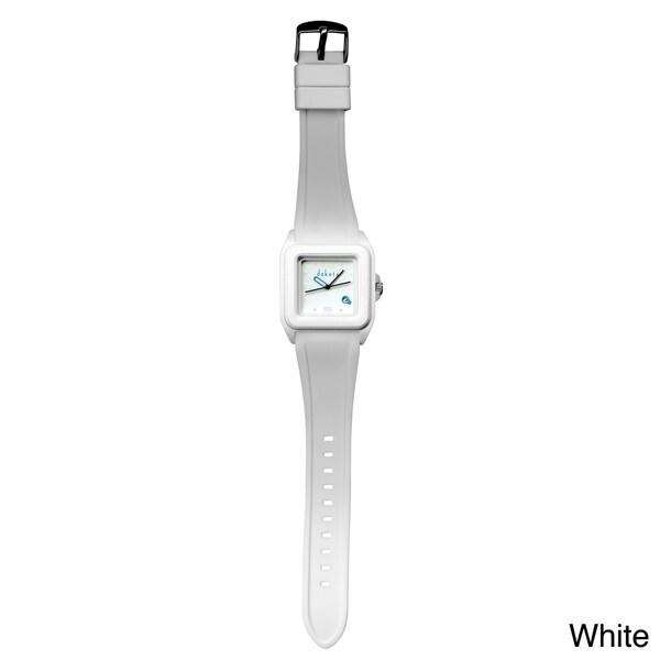 Dakota Women's White Plastic Jelly Date Watch