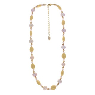 NEXTE Jewelry Goldtone Rose Freshwater Pearl Necklace (11 mm)