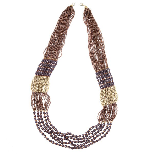 Nexte Jewelry Thousand Bead Multi Strand Necklace
