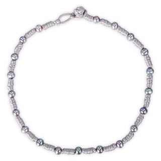 Miadora Cultured Freshwater Grey Pearl Chinese String Necklace (7.5-8 mm)
