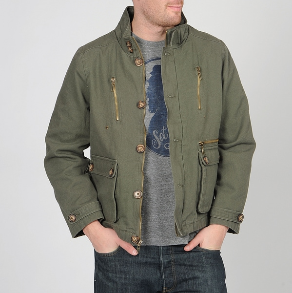 Grind by CoffeeShop Men's Green Canvas Jacket
