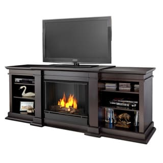 Real Flame Fresno 71.73 in. L x 18.98 in. D x 29.88 in. H Gel Entertainment Fireplace