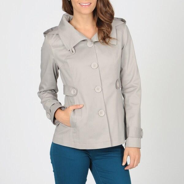 CoffeeShop Juniors Grey Hooded Cotton Jacket