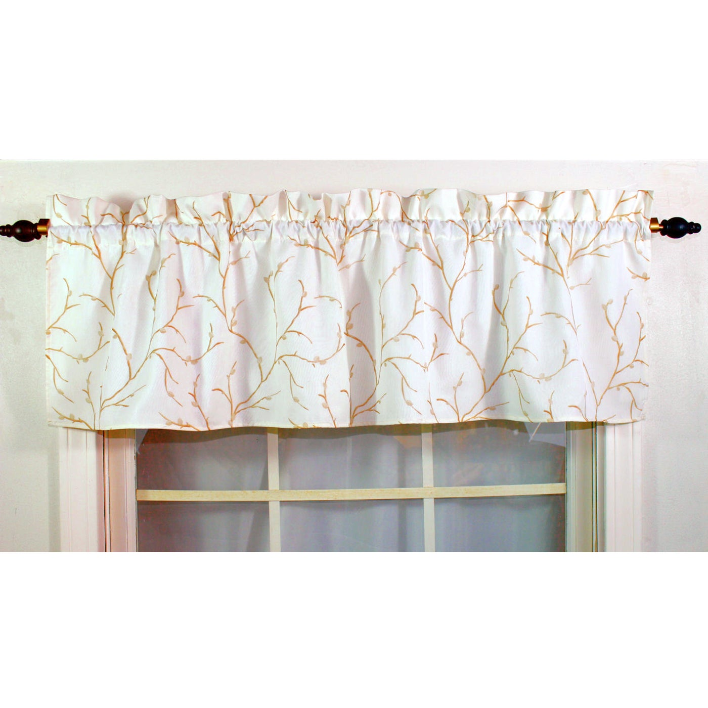 RLF HOME Willow Ivory Lined Valance (As Is Item) (Ivory)