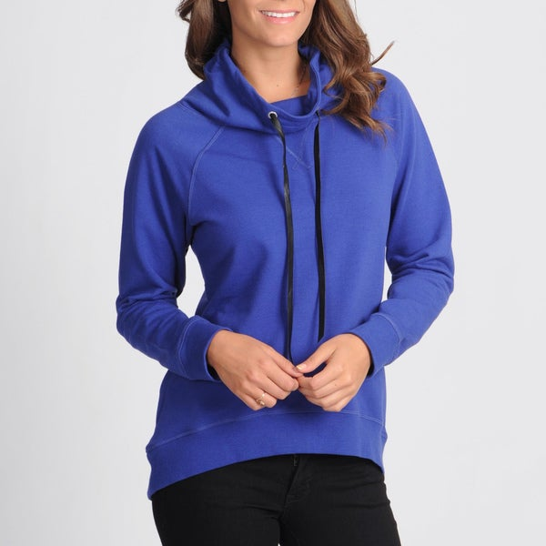 Central Park Electric Blue Cowl Neck Sweatshirt