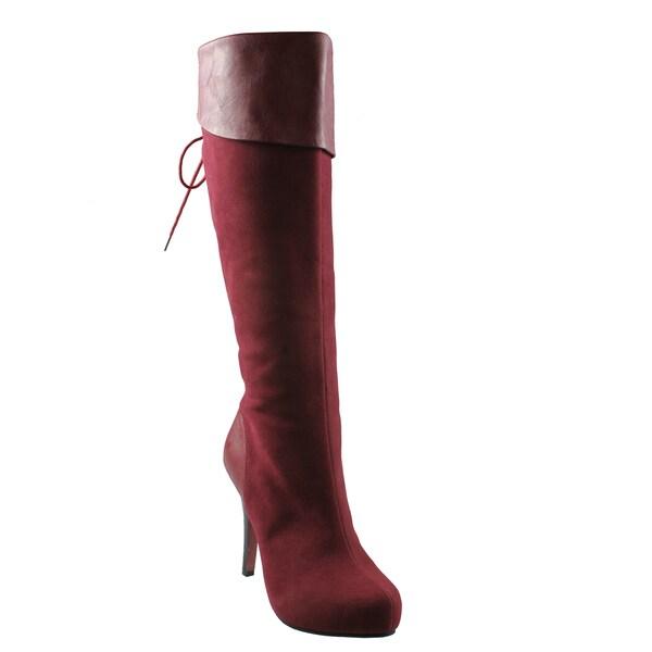 Refresh Women's 'Lana-13' Wine Faux Suede Boots