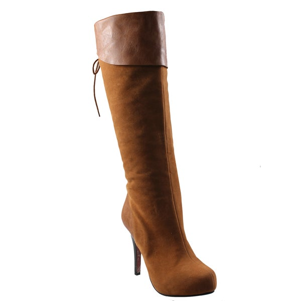 Refresh Women's 'Lana-13' Chestnug Boots