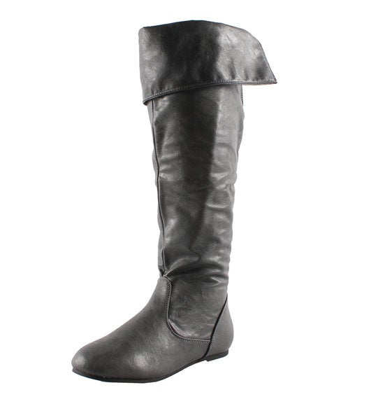Refresh by Beston Women's 'Naomi-02' Grey Slouchy Boots