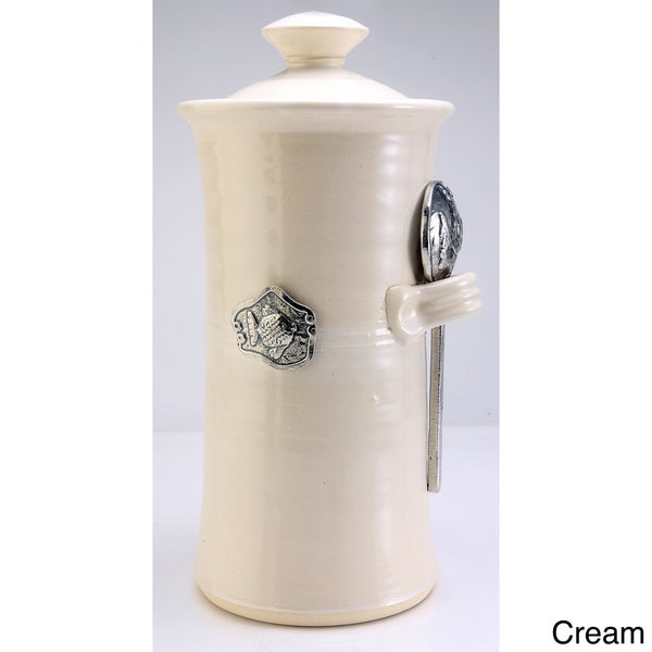 Artisans Domestic Coffee Canister with Fish Accent