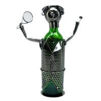 Wine Caddy Threestar Tennis Player Metal Wine Bottle Holder