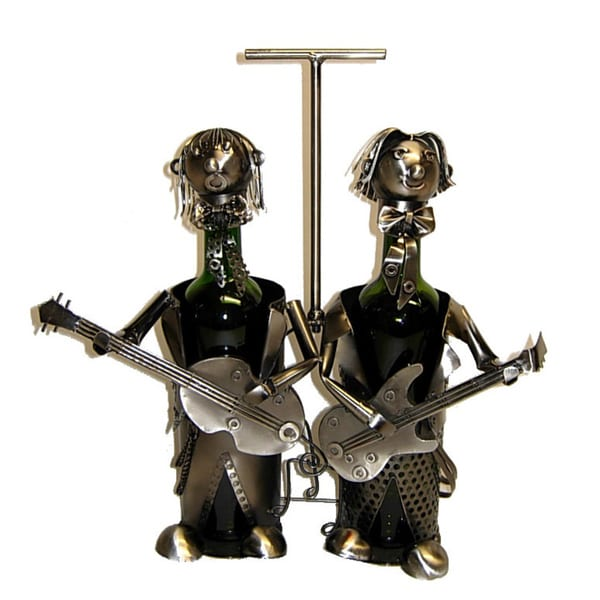 Wine Caddy Threestar Duo Guitarist Wine Bottle Holder