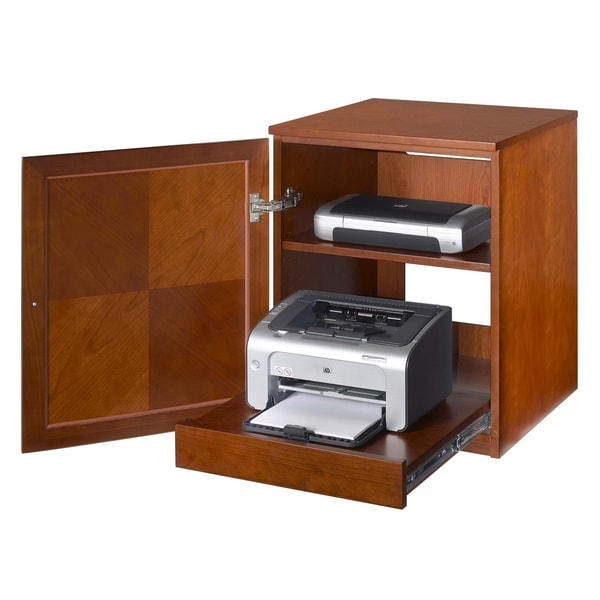 Cherry Wood Veneer Printer Cabinet