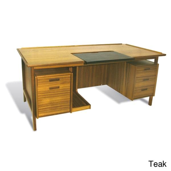 Shop Mid Century Modern Executive Desk Free Shipping Today