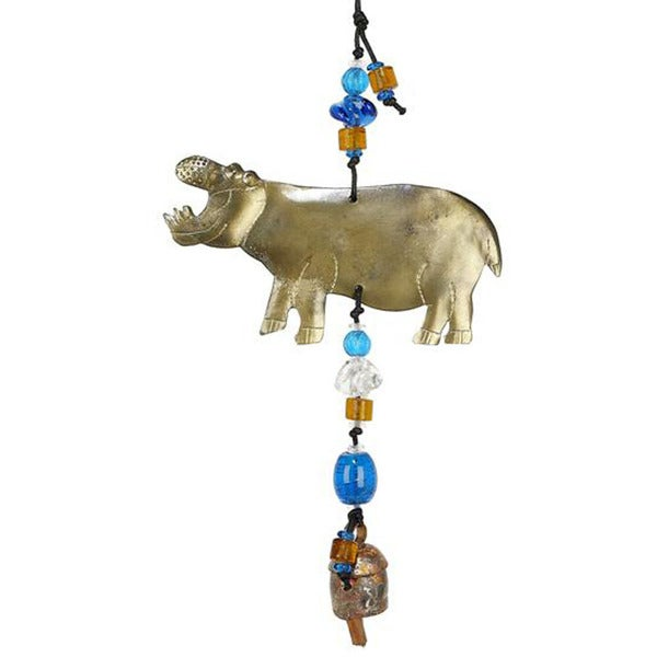 Handmade Hungry Hippo Wind Chime (India)