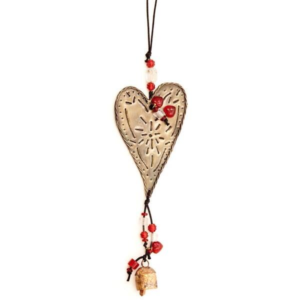 Handmade Heart on the Wind - Wind Chime (India)