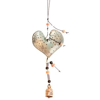 Handmade Hearts-A-Flutter Wind Chime (India)