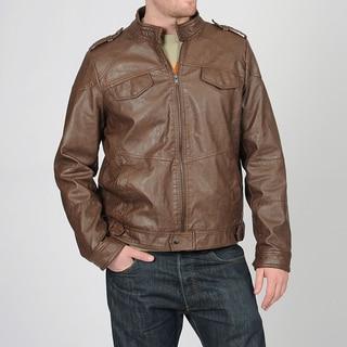 Grind by CoffeeShop Men's Brown PU Jacket