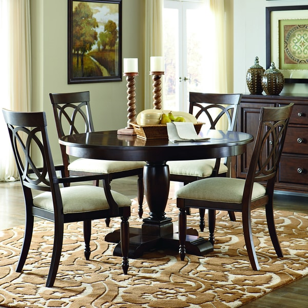Furniture Suttons Bay 5 Piece Round Table Dining Set With Arm Chairs