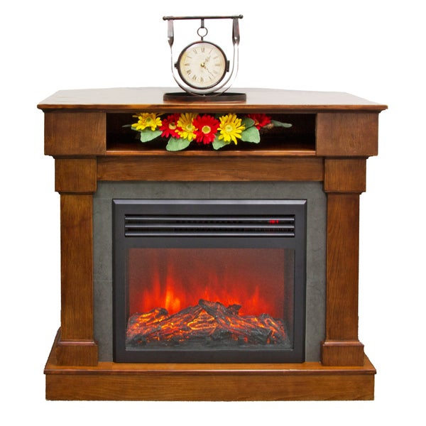 Lifesmart 3-in-1 Media Center Infrared Fireplace with Remote