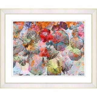 Studio Works Modern 'Orange Nasturtiums' Framed Giclee Print