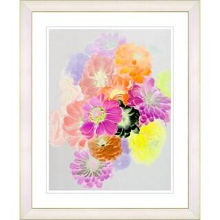 Studio Works Modern 'Majuli - Orange' Framed Giclee Print