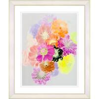 Studio Works Modern 'Majuli - Orange' Framed Giclee Print - Multi