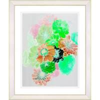 Studio Works Modern 'Majuli - Green' Framed Giclee Print - Brown/Green