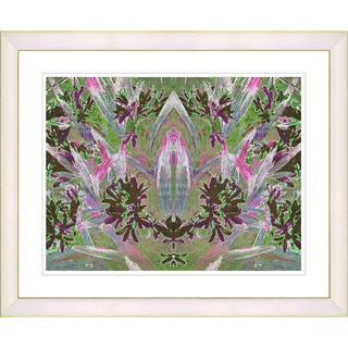 Studio Works Modern 'Temple of Lilies - Green' Framed Giclee Print